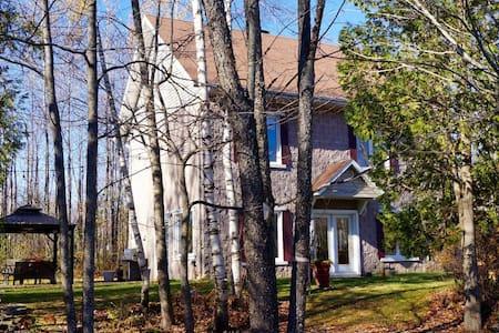Grande maison sur terrain boisé avec spa - Магог