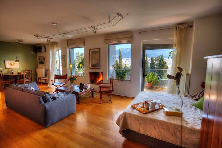 Design Loft with splendid View - Athens - Flat