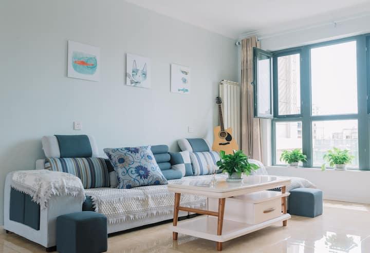 远洋城/恒大学庭/唐山学院/唐山师范学院两室一厅现代简约温馨舒适公寓