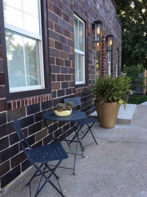 Enjoy your coffee on the patio
