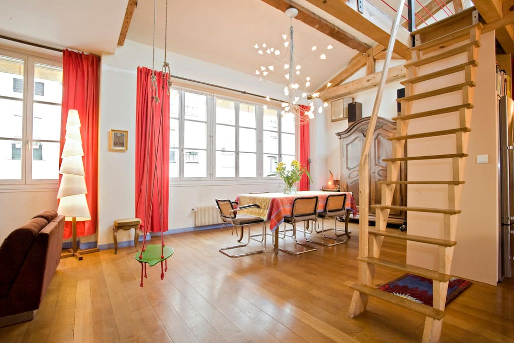 Loft apt 1970sqft heart of paris flats for rent in paris le de france - Colocation loft paris ...