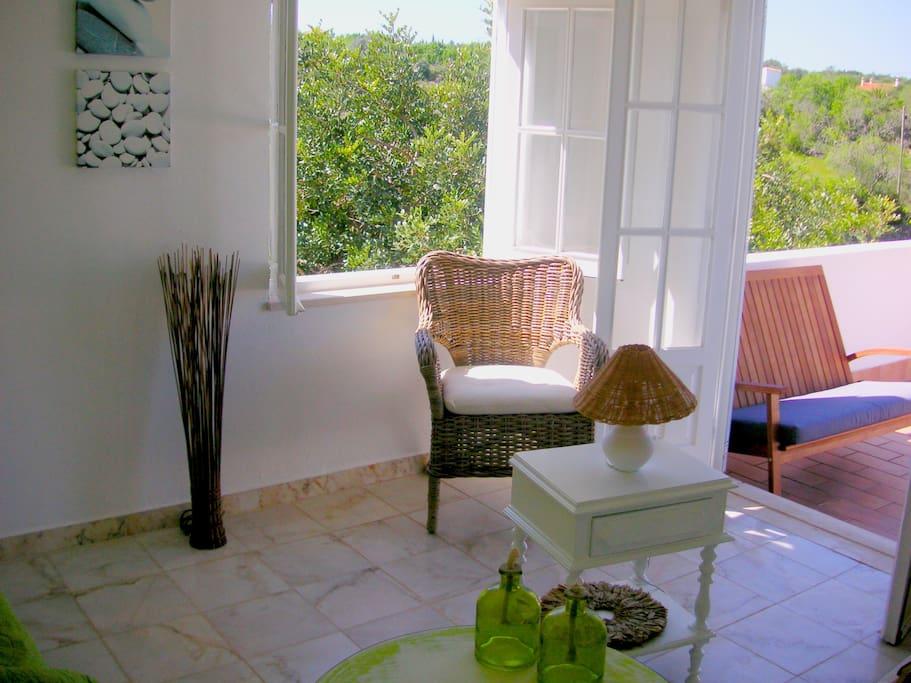 Votre salon, avec accés direct à votre terrace...