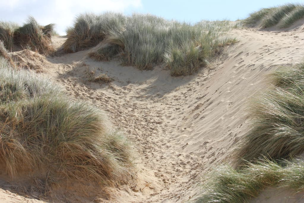Short walk from Sand Eels cottage  over the sand dunes...also a flatter route if preferred.
