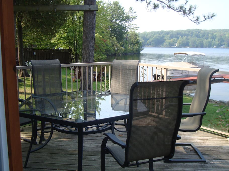 West side of deck