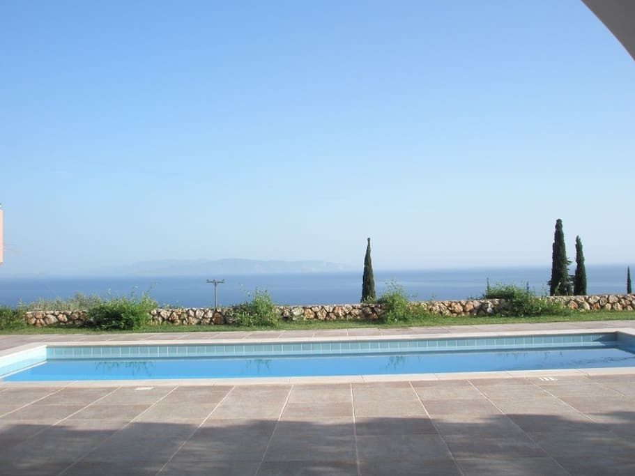 Ionian Sea View from the private pool