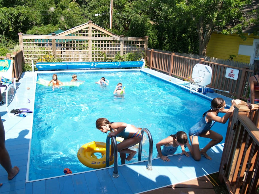 An alternative to the Beach is our heated pool at the Beach House at Lakeside, Mi.