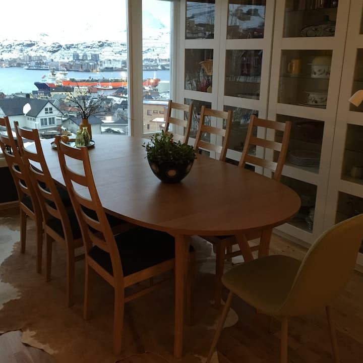 Rekkehus med flott beliggenhet i Hammerfest