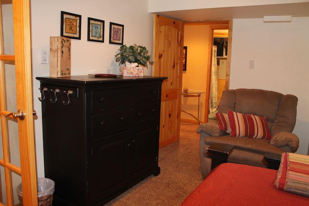 Bedroom to hallway & bathroom