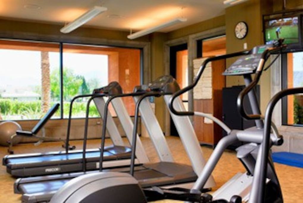 fully equipped gym, with daily classes available.