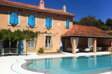 Charming house with pool and tennis - Collobrières