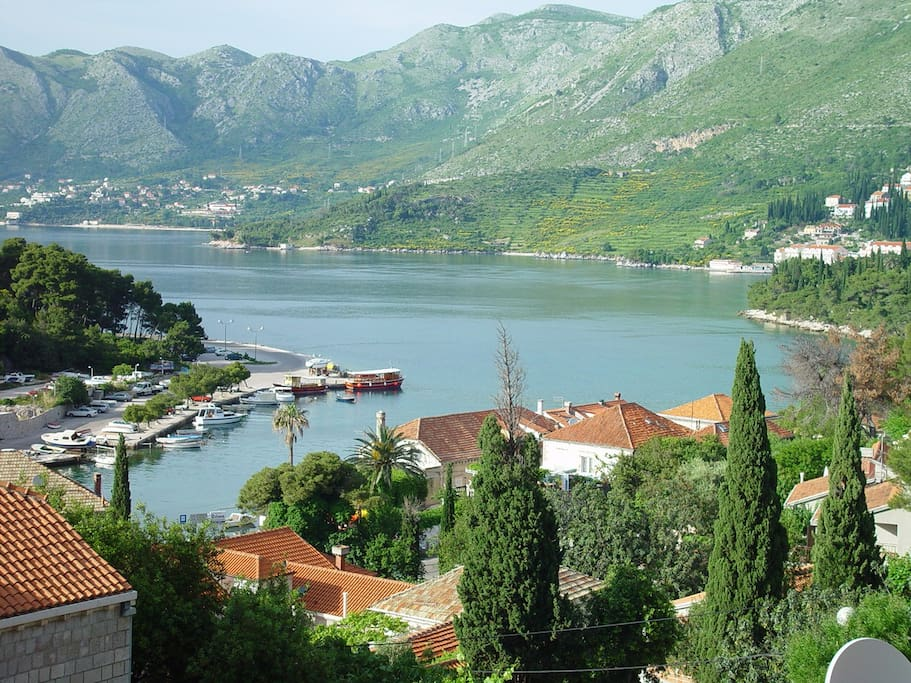 View of Cavtat from the terrace of the apartment (Right side of Cavtat's bay)
