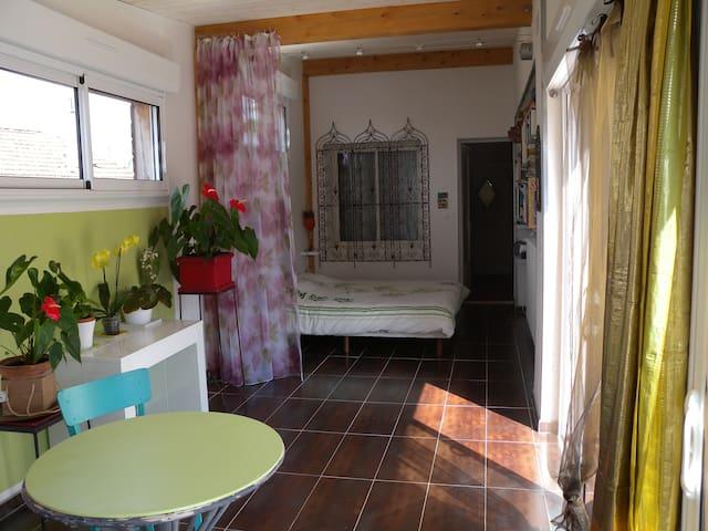 Charmant studio indépendant avec terrasse - Carcasona - Casa