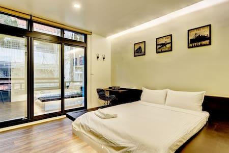 雙人套房2D-宜蘭羅東夜市樂福民宿2館 Loft Hostel 2 - Luodong Township - Minsu (Tchaj-wan)