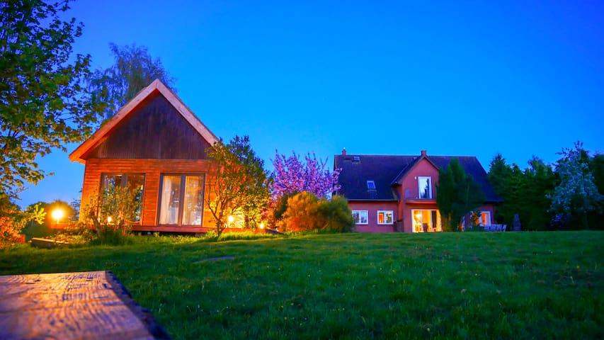 Ferienhaus 12 Personen, Ostsee mit Boot u. Sauna