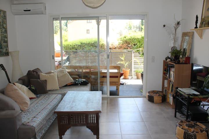 Location meublée, jardin sans vis à vis, Béziers - Béziers - Lägenhet
