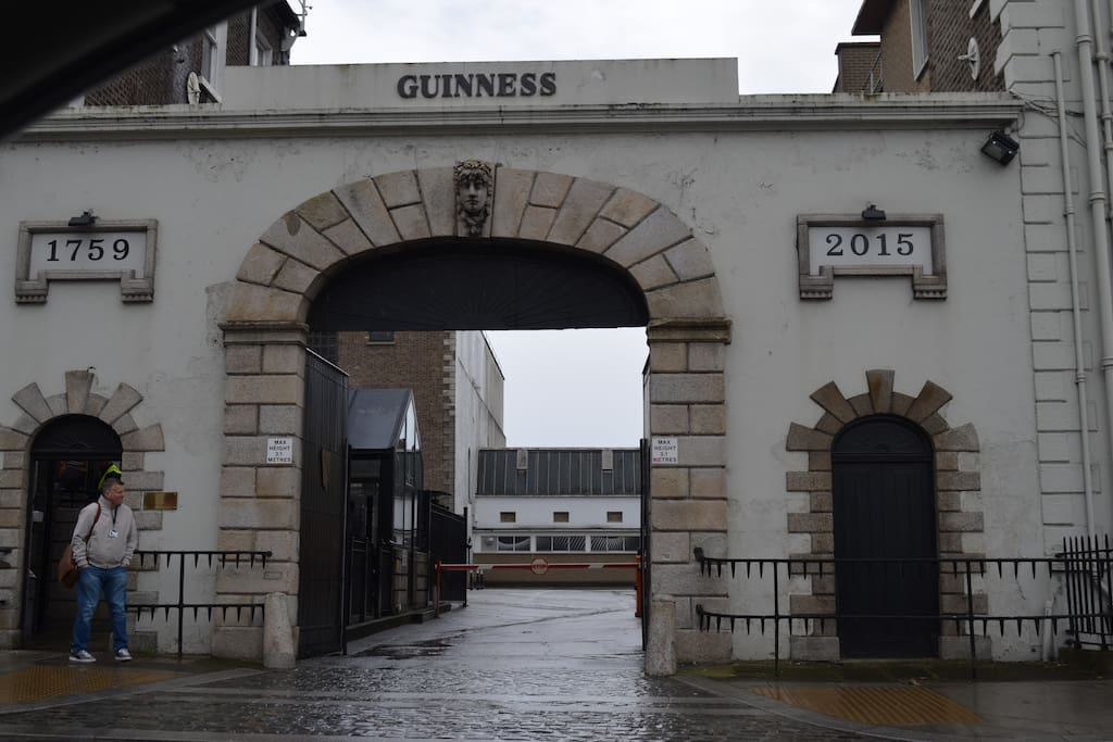 Main entrance to Guinness Brewery