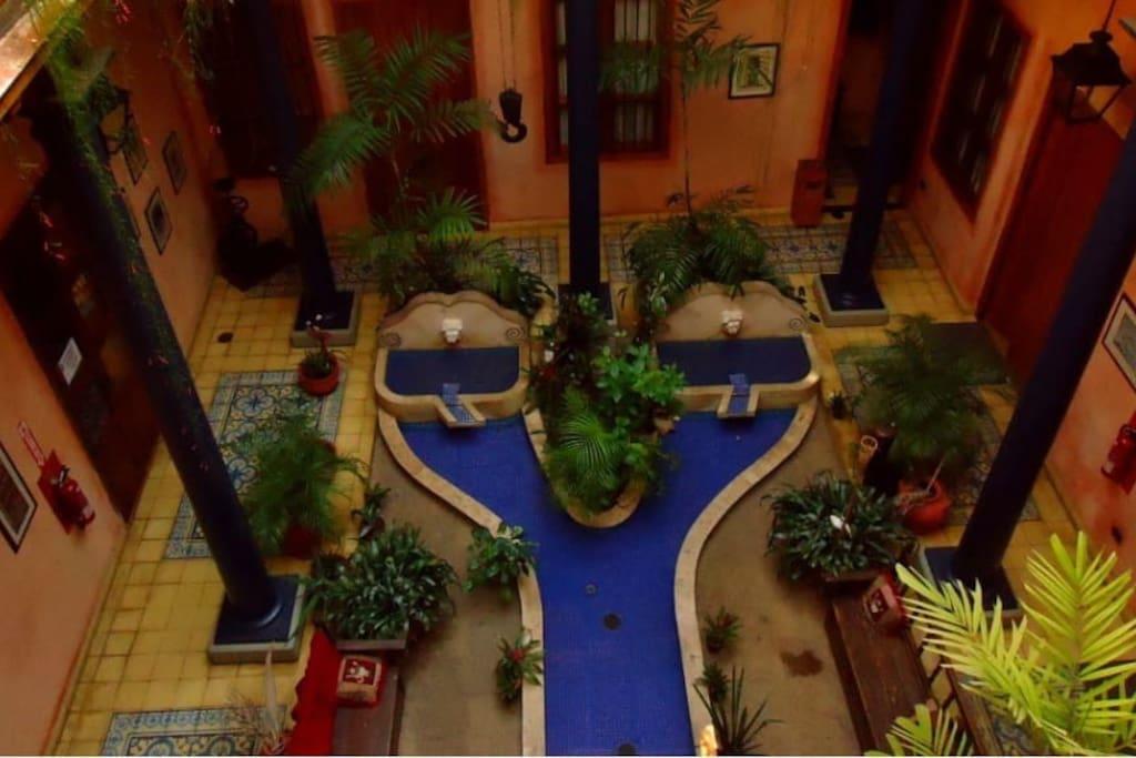 Interior de la Posada Boutique Casa de Angostura