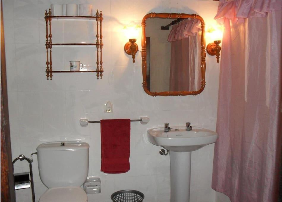 Baño completo con bañera y radiador toallero eléctrico