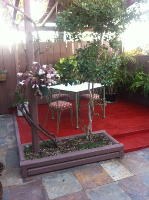 private gazebo in garden setting