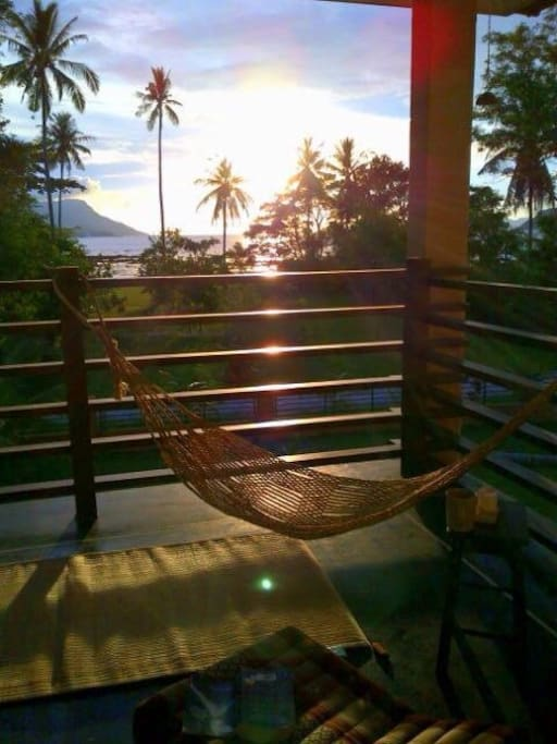 Sunset view from private balcony master room