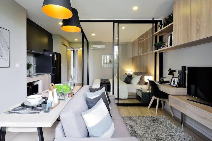 帶泳池,時尚溫馨歐風,適合小情侶們居住的公寓
