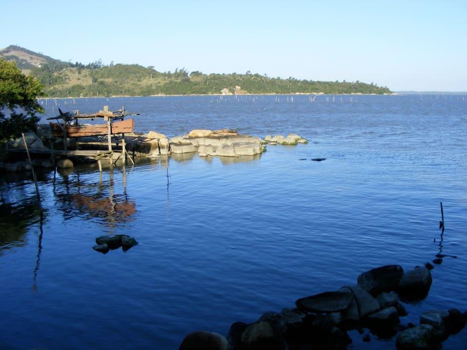 Praia da casa na Lagoa