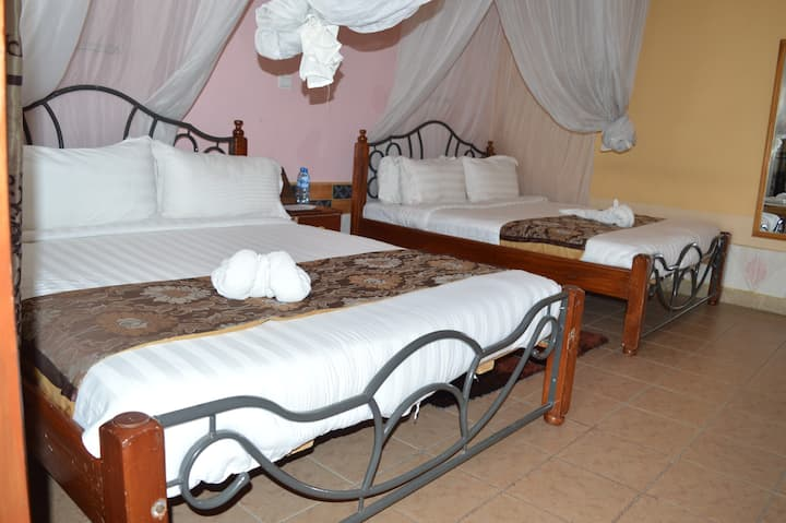 Our Ample parking ,specious, comfortable rooms,