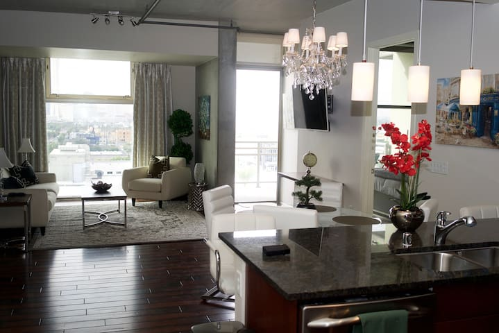 Citywide View from Balcony, Bedrooms & Living Room