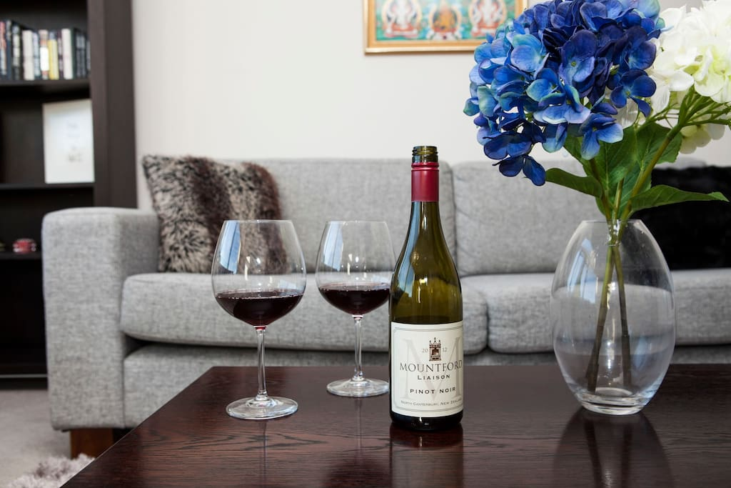 Enjoy a glass of wine for two after exploring Wellington city!