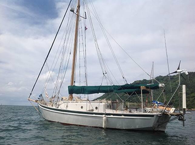 Bateau/voilier mouillage à Moorea - Maharepa