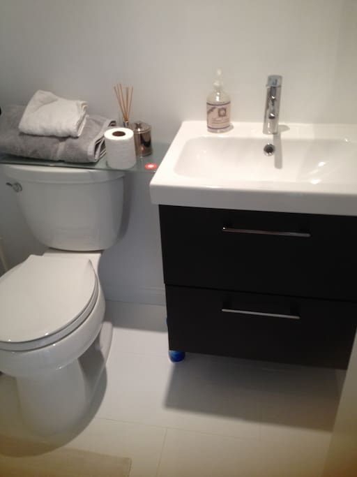 Completely renovated bathroom & shower