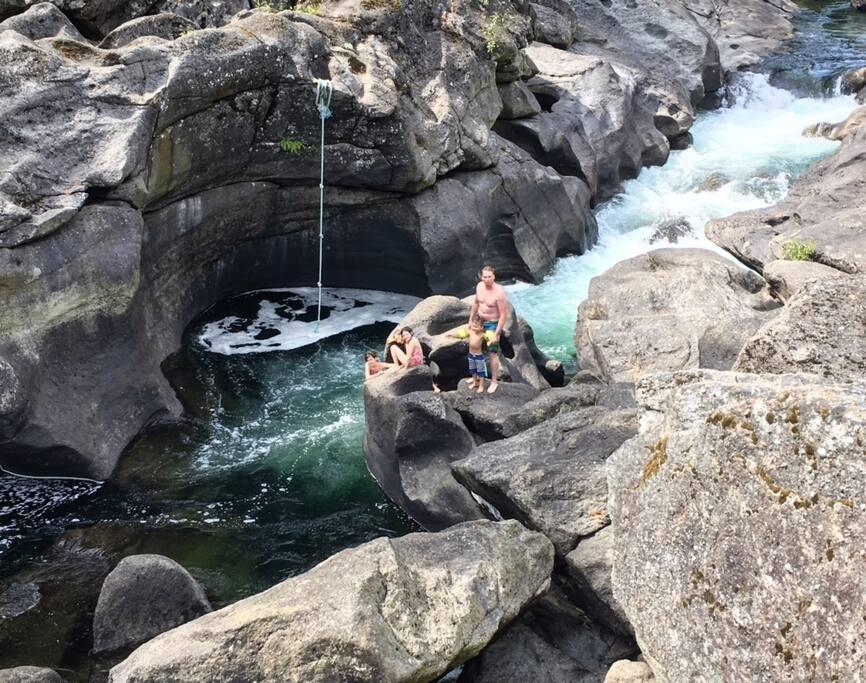 Adventure swimming spot to Jump