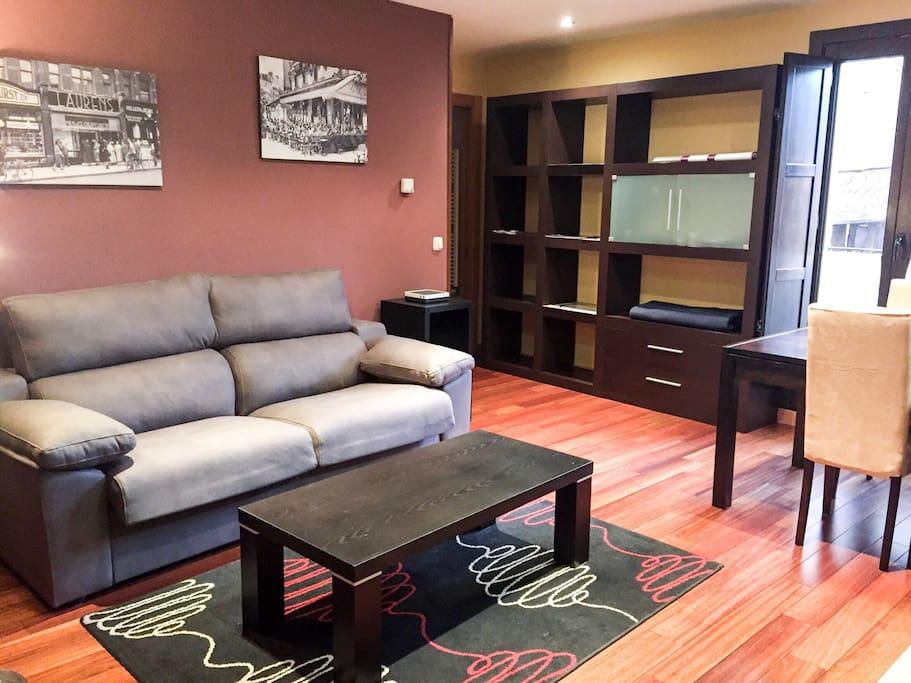 Sofá-cama de 1,40m en el salón