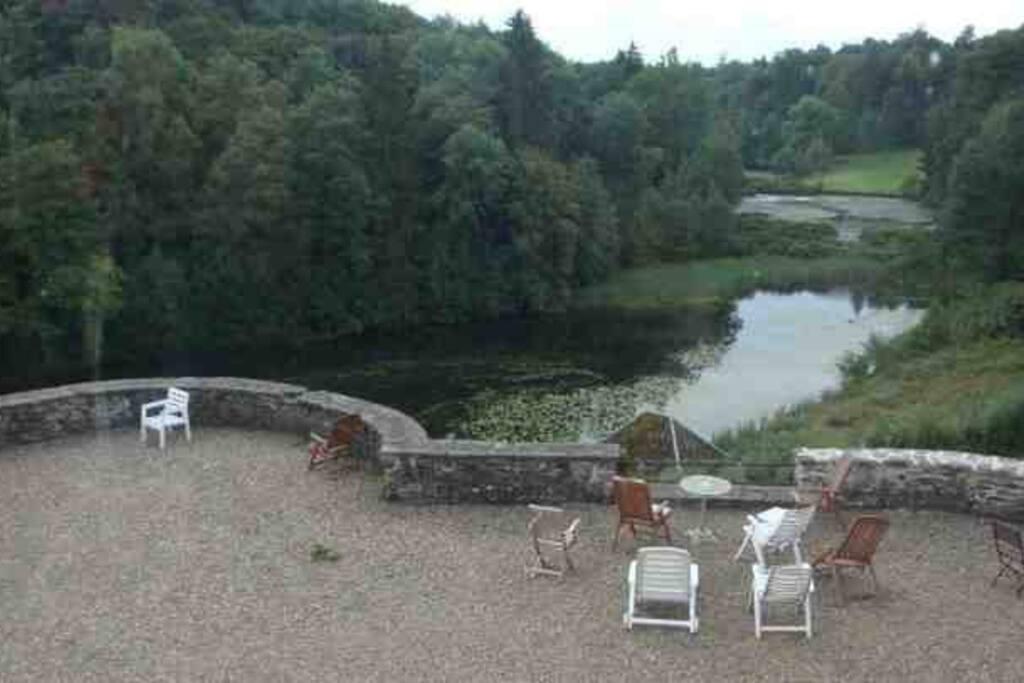 la vue sur le parc, de la terrasse