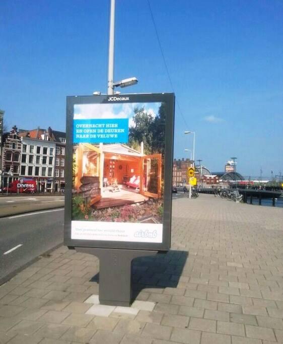 Reclame, in hartje Amsterdam...