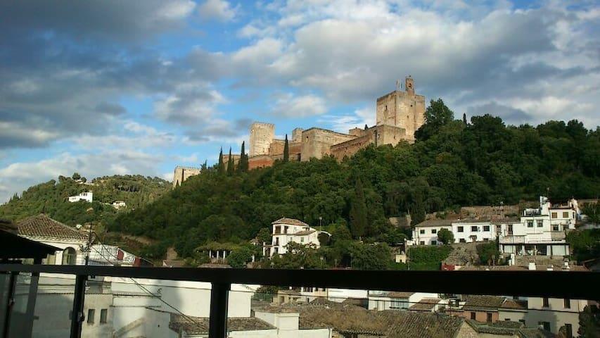 Romántico y céntrico, vistas a la Alhambra. Wifi