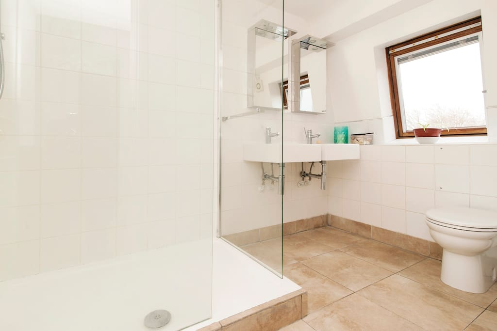 shared bathroom with lovely, big walk-in shower