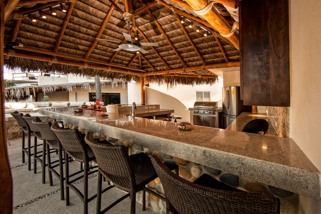 We love the new outdoor palapa kitchen!