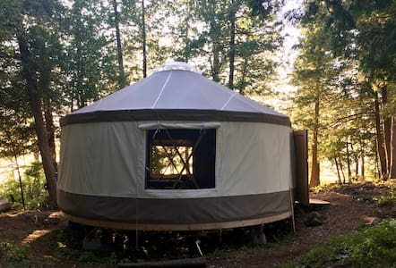Yurt joy - in a forest, under stars and by water!