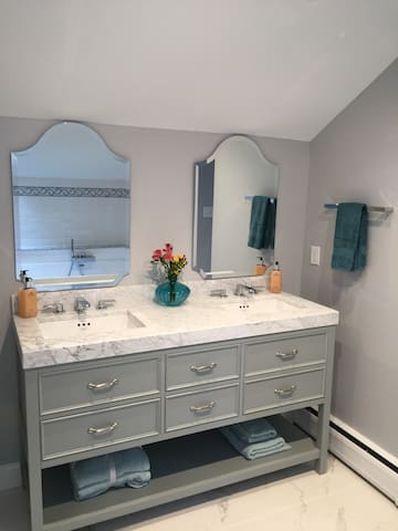 Double Marble Master Vanity