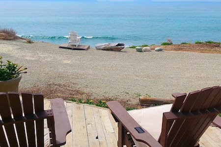 Private Beachy Oceanfront Heaven on a 145' Bluff - Rosarito Beach