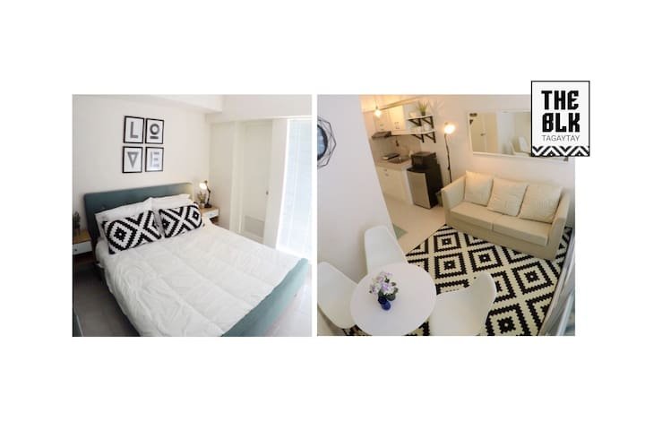 THE BLK Tagaytay: Bright and Beautiful 1BR Home