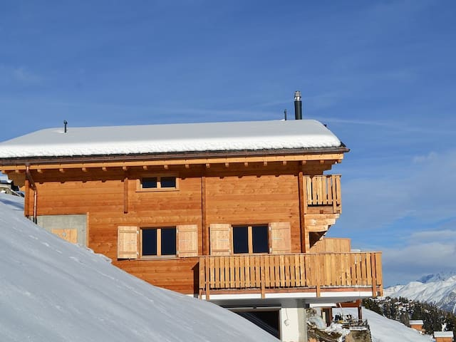 New!  Aletsch Arena Ski In Ski Out alpine chic duplex apartment. - Riederalp - Apartment