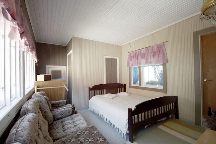Unheated bedroom