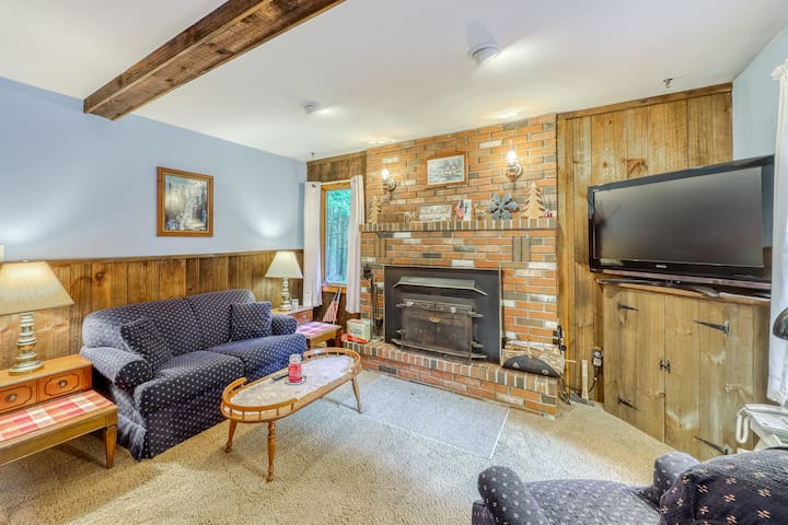 Swiss Chalet-style cottage on two acres - near skiing & VAST Trail