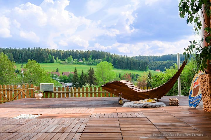 Entire house in Schwarzwald: View,Gym,Sauna,Garden