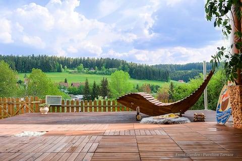 Entire house in Schwarzwald: View,Gym,Sauna,Garden