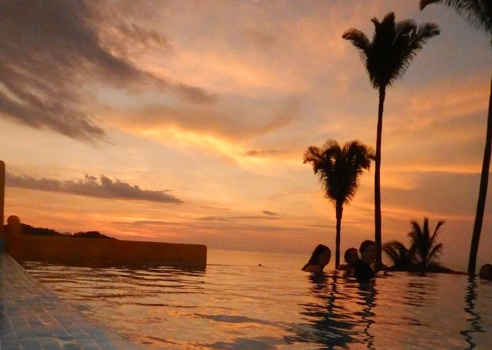 The Sunsets are best enjoyed in our infinity pool