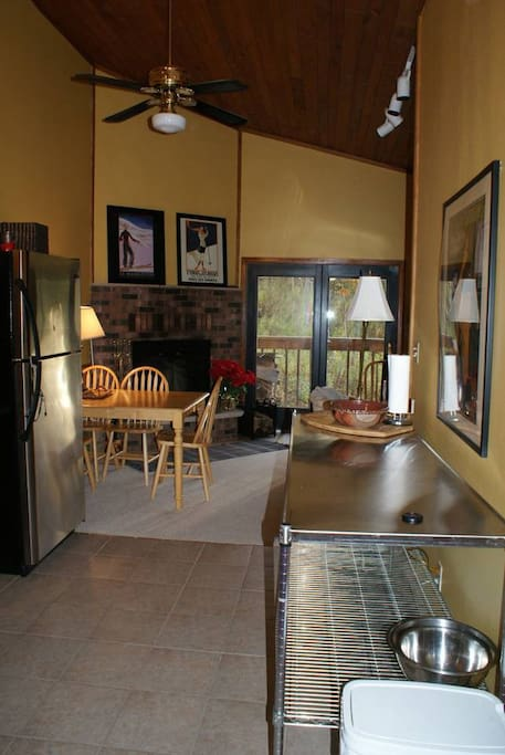 Kitchen, Extra Counter space, & Dining Room
