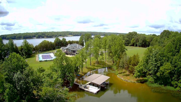 Luxury Lake Home & Tennis on 10 Secluded Acres